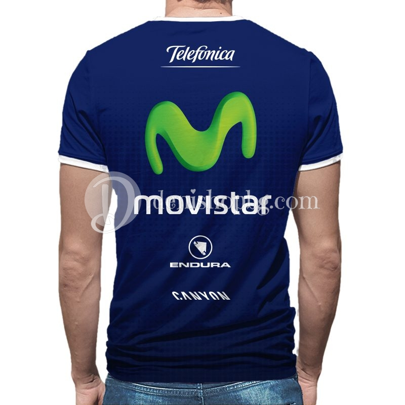 3c8d4d88191 3D мъжка тениска Movistar dark blue - Denishopbg.com