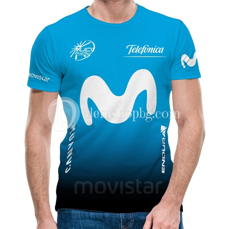 e2487762c59 3D мъжка тениска Movistar sky blue - Denishopbg.com