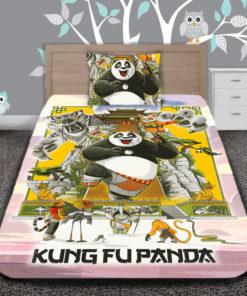 spalen-komplekt-spalno-belio--pamuk-ranfors-hase-pamukhase-charshafi-spalnya-leglo-zavivki-kalyfki-kung-fu-panda